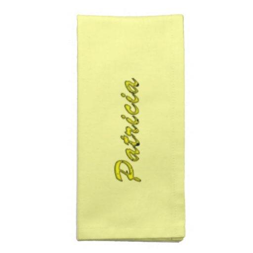 Servilletas amarillas del paño de Patricia