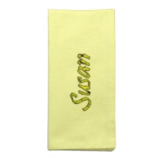 Servilletas amarillas del paño de Susan