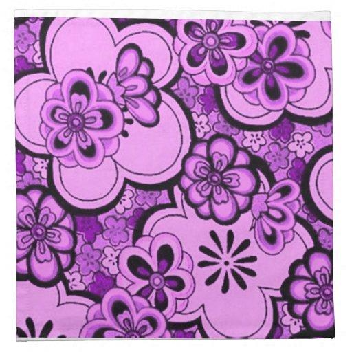Servilletas Amethyst púrpuras de las flores abstra