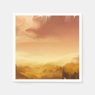 Servilletas anaranjadas de la puesta del sol servilleta desechable