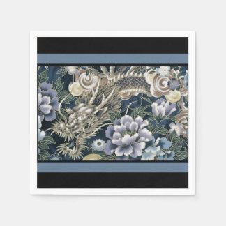 Servilletas asiáticas elegantes del estampado de servilletas de papel