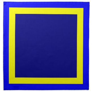 Servilletas azules del amarillo y de la marina de