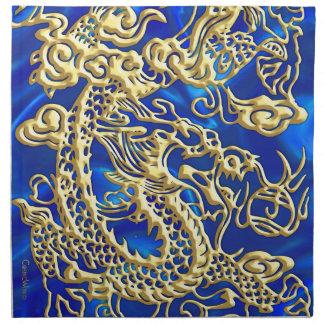 Servilletas azules del borrachín del satén del dra