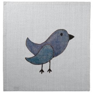 Servilletas azules del pájaro