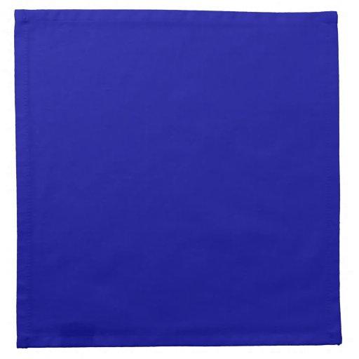 Servilletas azules sólidas del paño