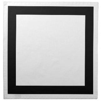 Servilletas blancas y negras