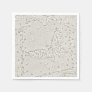 Servilletas bordadas del diseño del edredón loco servilletas de papel