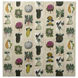 Servilletas botánicas vegetales de las impresiones