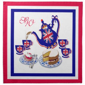 Servilletas británicas del ~ del tiempo del té # 2