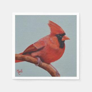 Servilletas cardinales rojas servilletas de papel