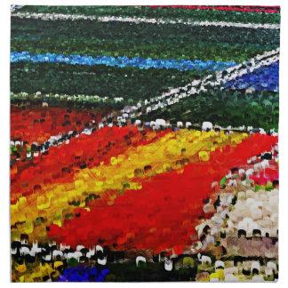 Servilletas coloreadas multi de la pintura del cam