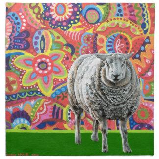 Servilletas coloridas del paño del arte de las ove