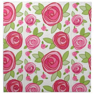 Servilletas de cena color de rosa rosadas del paño