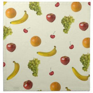 Servilletas de cena de la ensalada de fruta