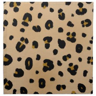 Servilletas de cena del paño del estampado leopard