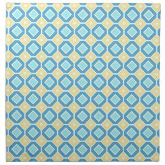 Servilletas de cena geométricas azules del modelo