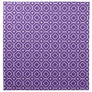 Servilletas de cena geométricas púrpuras del model