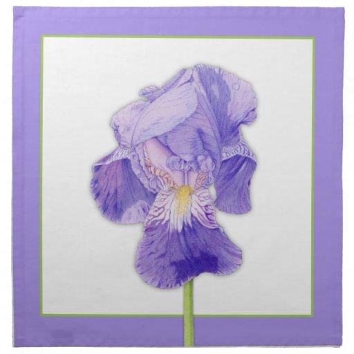 Servilletas de cena púrpuras del iris púrpura