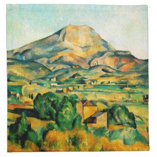 Servilletas de Cezanne Mont Sainte-Victoire