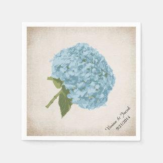 Servilletas de encargo del boda del Hydrangea azul Servilleta Desechable