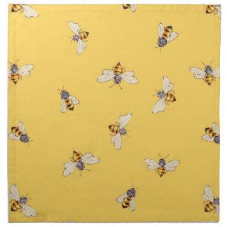 Servilletas de la abeja - amarillo soleado