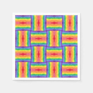 Servilletas de la armadura del arco iris servilleta de papel