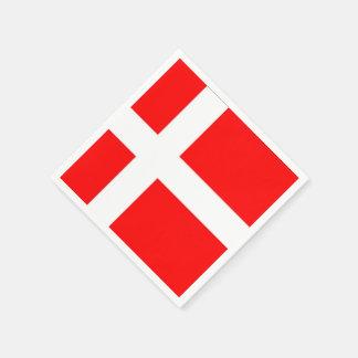 ¡Servilletas de la bandera de Dinamarca! Servilleta Desechable