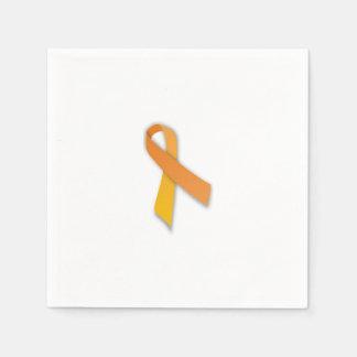 Servilletas de la cinta de la leucemia servilleta de papel