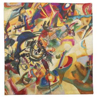 Servilletas de la composición VII de Kandinsky