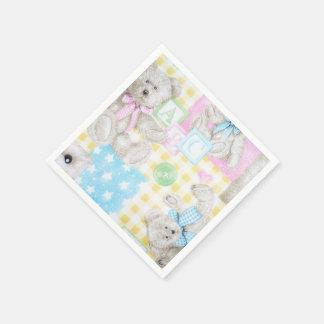 Servilletas de la impresión del oso de peluche servilleta de papel