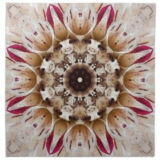 Servilletas de la mandala de la flor