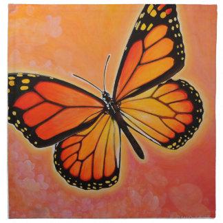 Servilletas de la mariposa de monarca