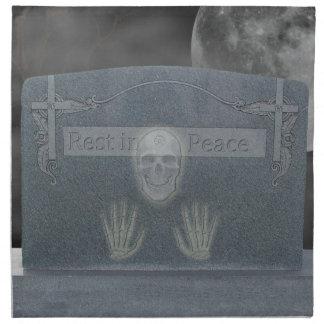 Servilletas de la piedra sepulcral