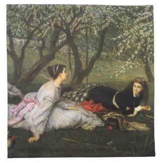 Servilletas de la primavera de James Tissot