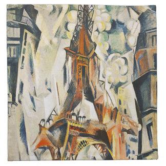 Servilletas de la torre Eiffel de Roberto Delaunay