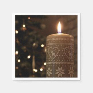 Servilletas de la vela del navidad servilleta desechable