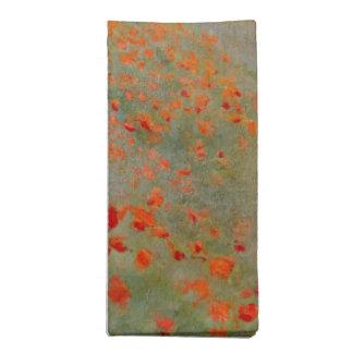 Servilletas de las amapolas de Monet