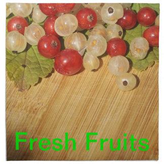 Servilletas de las frutas frescas