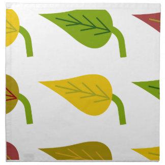 Servilletas de las hojas de otoño
