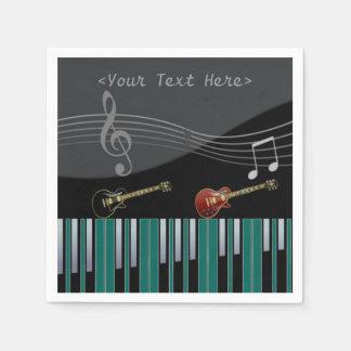 Servilletas de las notas de la música del piano y servilleta desechable