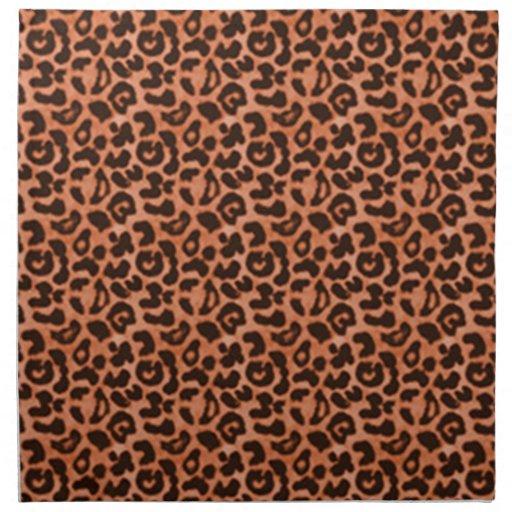 Servilletas de lino del leopardo