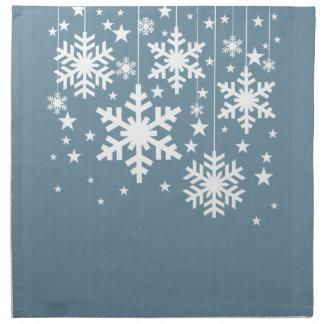 Servilletas de los copos de nieve y de las estrell