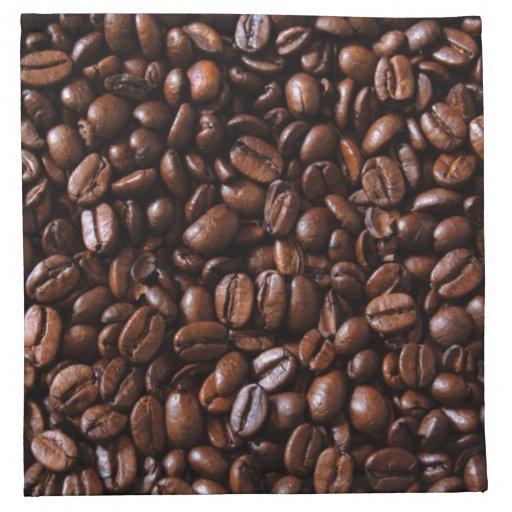 Servilletas de los granos de café