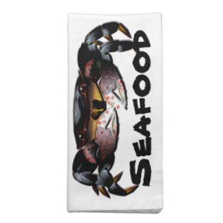 Servilletas de los mariscos del cangrejo