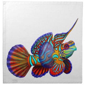Servilletas de los pescados del filón del gobio de