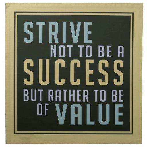 Servilletas de motivación del paño del éxito y del