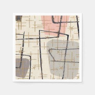 Servilletas de papel abstractas modernas de los