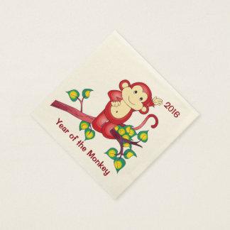 Servilletas de papel chinas 2016 de Red Monkey del