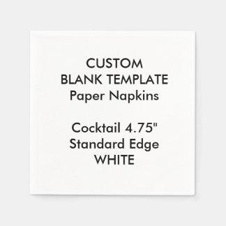 Servilletas de papel cóctel BLANCO de encargo de