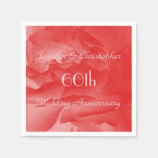 Servilletas de papel color de rosa coralinas, 60.o